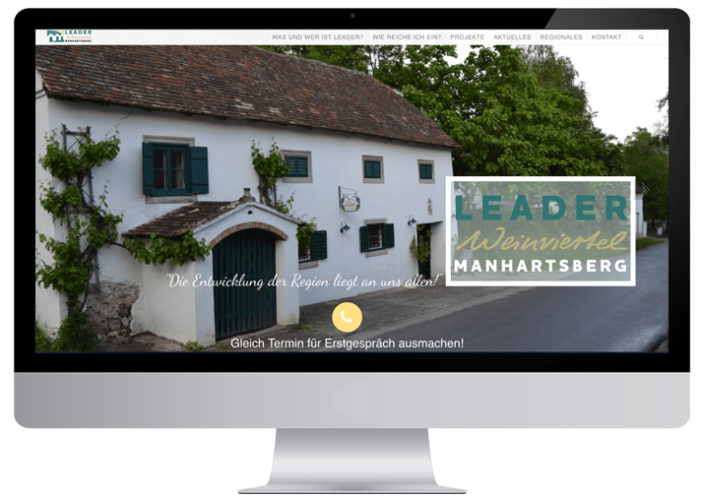 Website LEADER Region Weinviertel-Manhartsberg