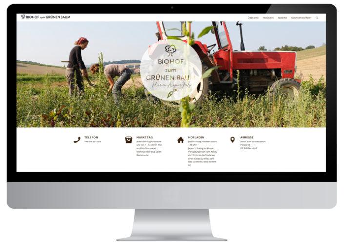 Biohof zum Grünen Baum Website